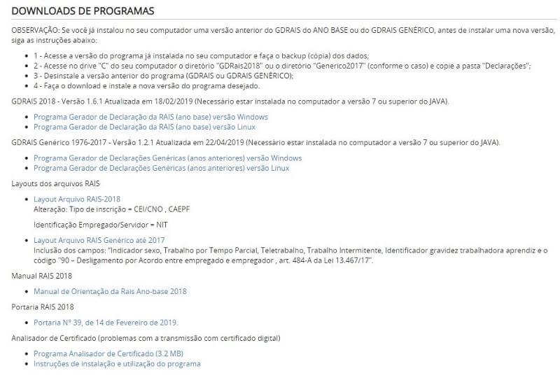 Download do programa