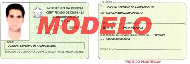 O que é o Certificado de Reservista