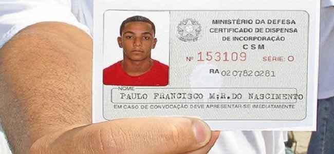 Número do Certificado de Reservista
